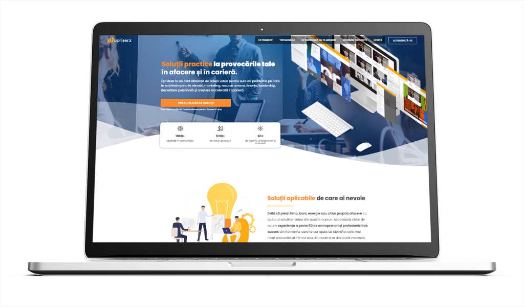 Uprisers ALY Media realizare landing page