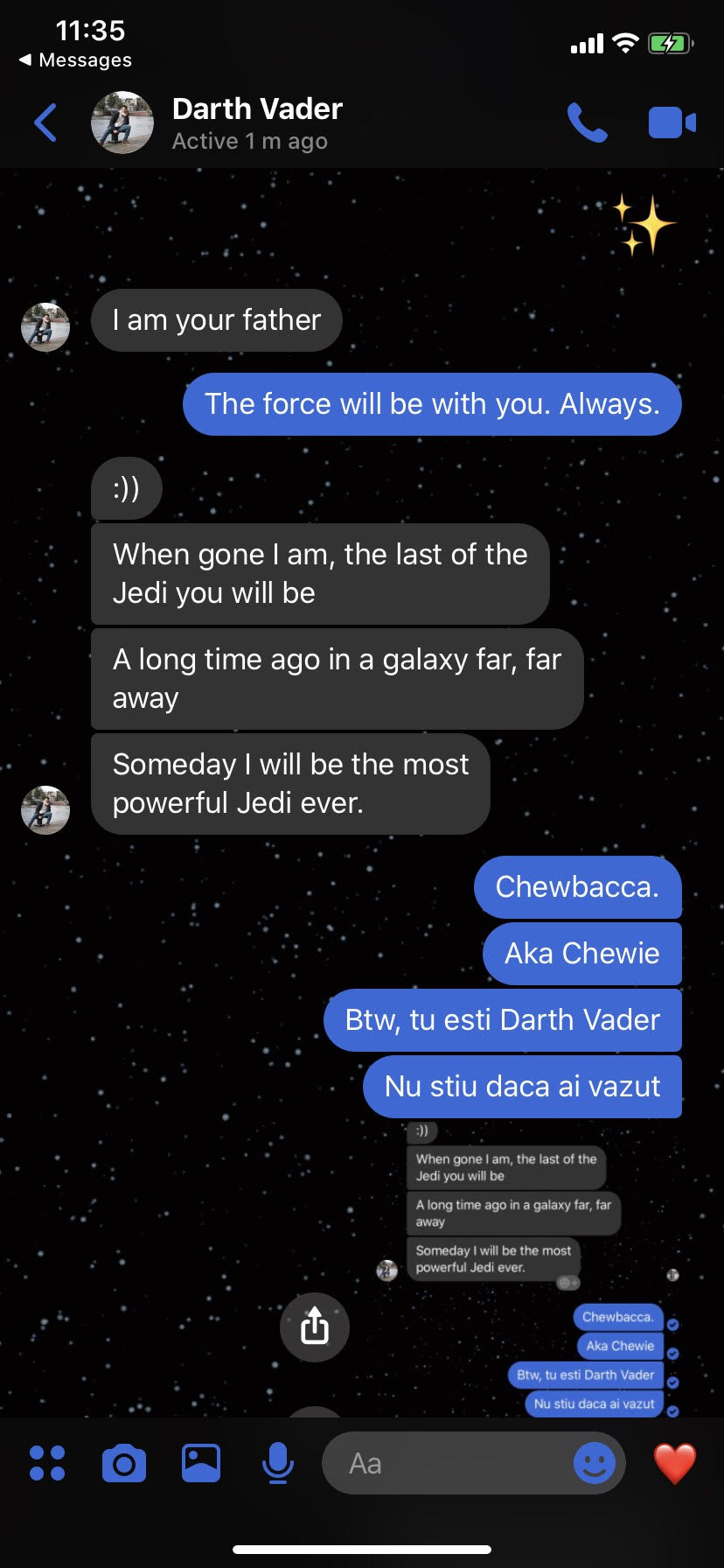 Tema Star Wars pe Messenger