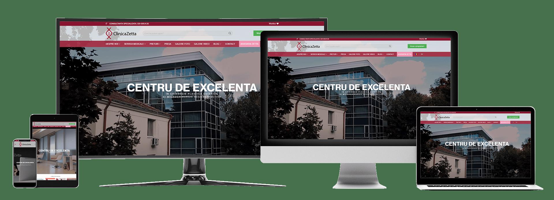 Realizare webiste Clinica Zetta