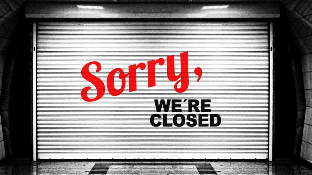închiderea magazinelor fizice