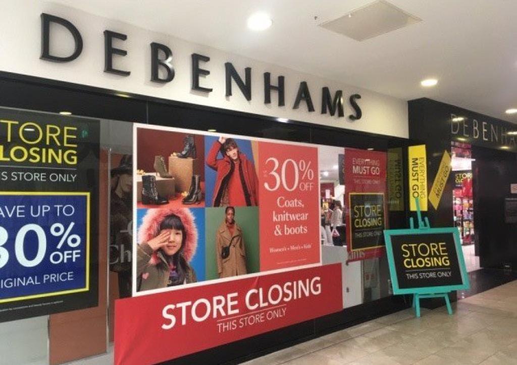 Debenhams Inchidere magazin