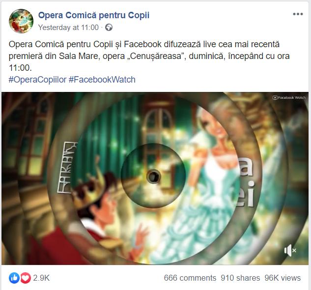 Opera Comică pentru copii coronavirus