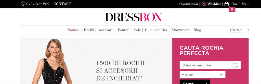 Dressbox asa nu search bar UX