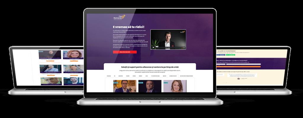 Prezentare platformă online Romania Rise Up