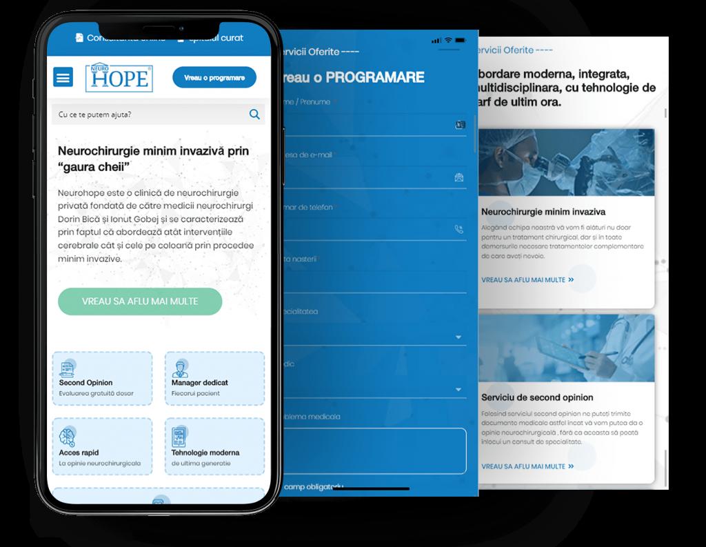 Site de prezentare optimizat pe mobil ALY Media