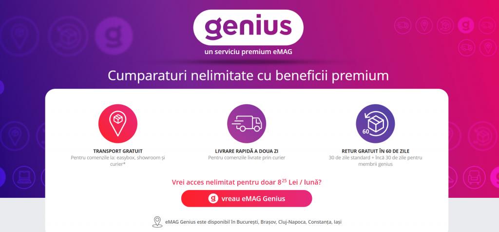 eMag Genius, eMag lansează Genius, serviciul premium de livrare gratuită